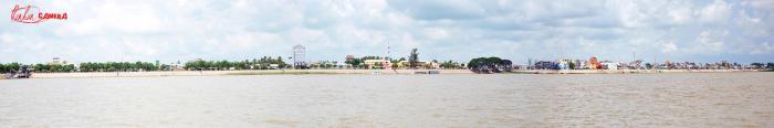 Toàn cảnh bờ kè thị xã tân châu an giang - Việt nam